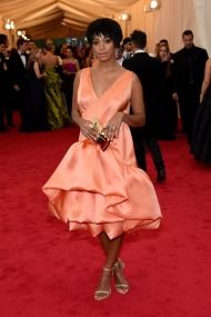 Dress by 3.1 Phillip Lim; clutch by Anya Hindmarch